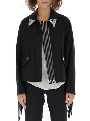 Alexander Wang Pointed Collar Open Jacket