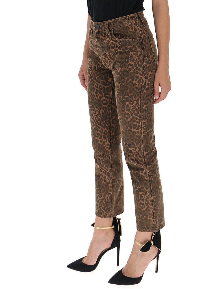24c3be81bbdb Alexander Wang x Denim Leopard Print Cropped Jeans – Cettire