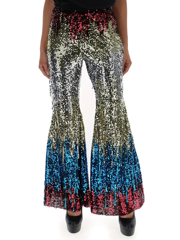 Amen Sequined Flare Pants