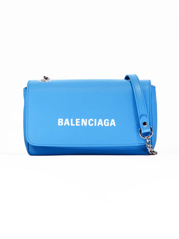 Balenciaga Logo Chain Strap Crossbody Bag
