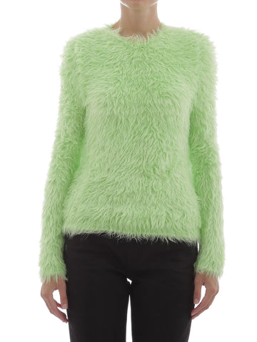Balenciaga Fluffy Neon Sweater