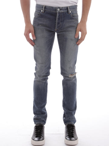 Balmain Slim Fit Ripped Jeans