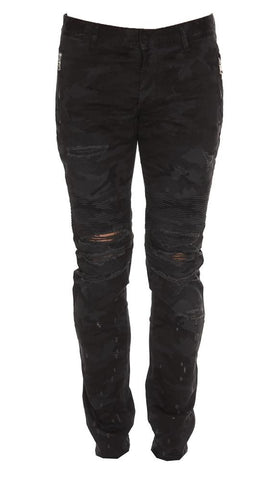 Balmain Distressed Slim Fit Jeans