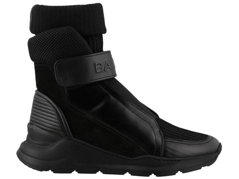 Balmain Hi-Top Strap Sneakers