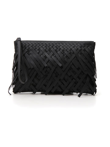 Bottega Veneta Fringed Clutch Bag