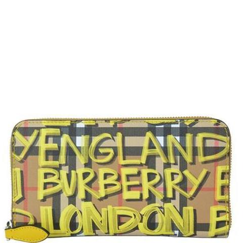 Burberry Graffiti Check Wallet