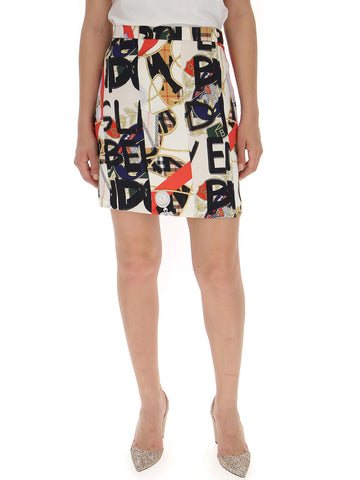 Burberry Graffiti Print Skirt
