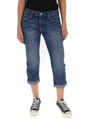 Current/Elliott Cropped Fitted Jeans