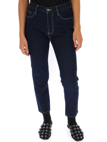 Current/Elliott Cropped High-Rise Jeans