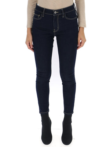 Current/Elliott Contrast Trim Skinny Jeans