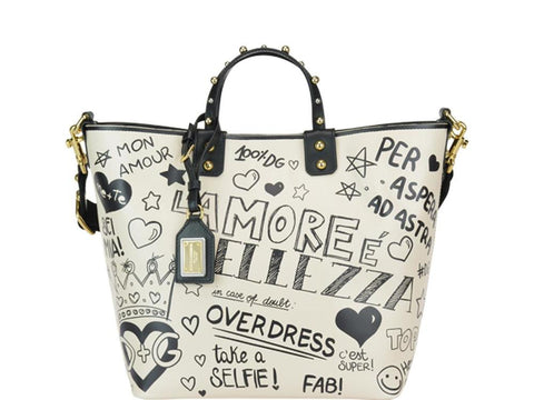 Dolce & Gabbana Beatrice Graffiti Tote Bag