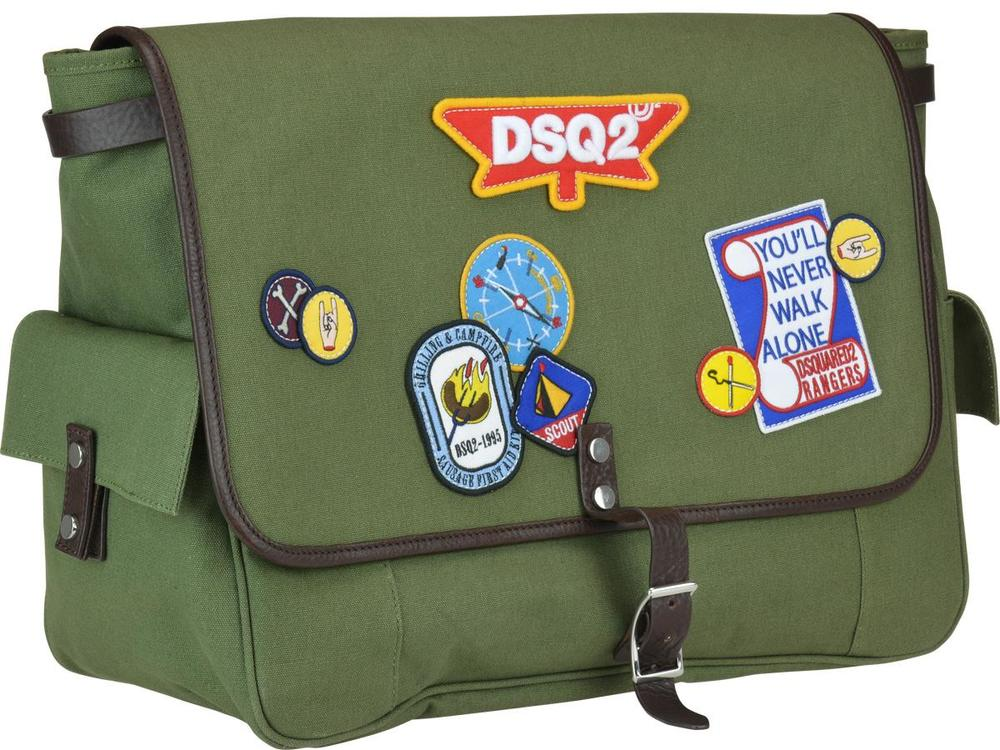 53a43997077b Dsquared2 Patches Messenger Bag In Green