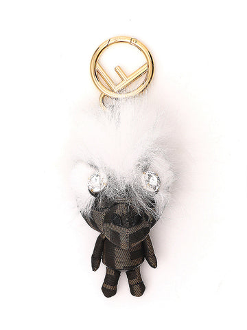 Fendi Furry Space Monkey Charm Keyring