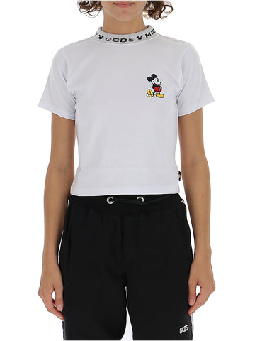 GCDS Mickey Mouse Cropped T-Shirt