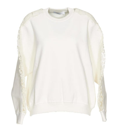 Givenchy Lace Sleeve Panel Sweater