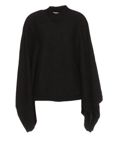 Givenchy High Neck Draped Cape