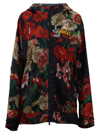 Gucci Floral Nylon Windbreaker Jacket
