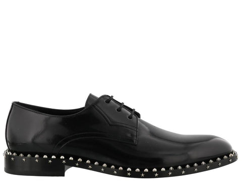 Jimmy Choo Studded Sole Axel Derby Shoes