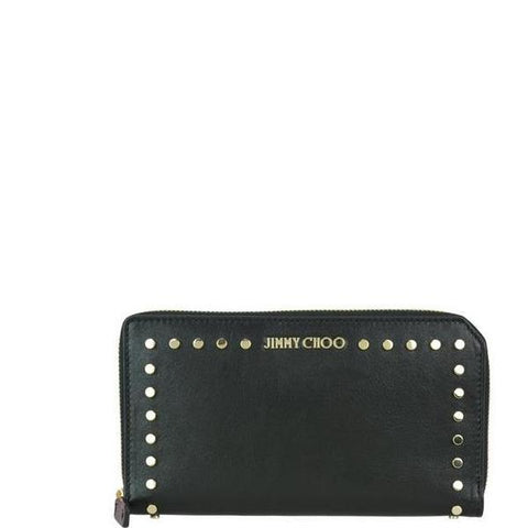 Jimmy Choo Studded Zip Around Wallet