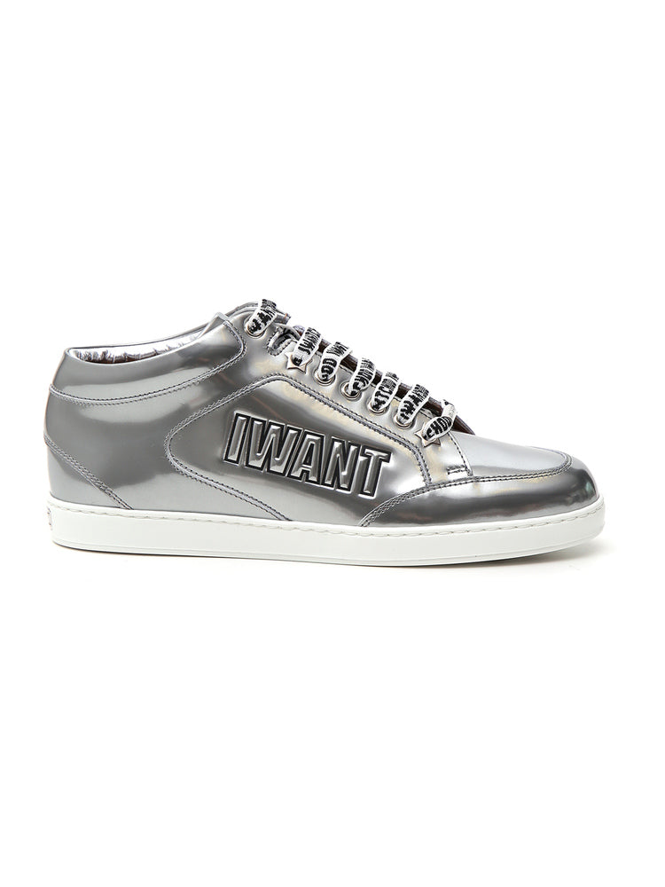 JIMMY CHOO METALLIC MIAMI SNEAKERS