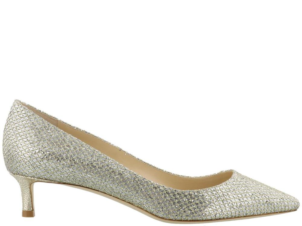 JIMMY CHOO ROMY 40 GLITTER PUMPS