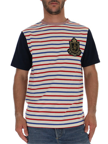JW Anderson Striped Logo Patch T-Shirt