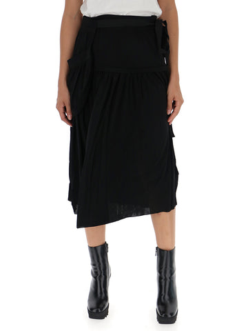 JW Anderson Draped Midi Skirt