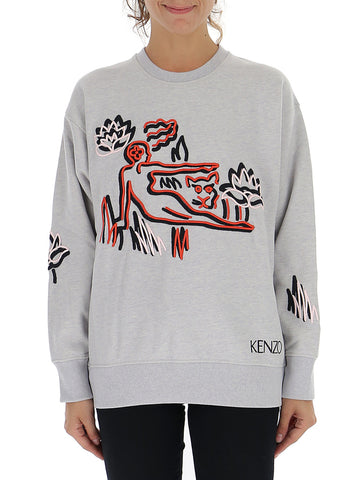 Kenzo Embroidered Patch Sweatshirt