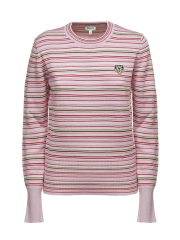 Kenzo Striped Tiger Crest Sweater