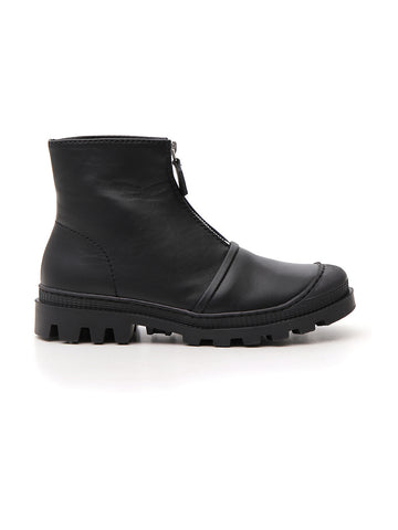 Loewe Leather Zip-Up Boots
