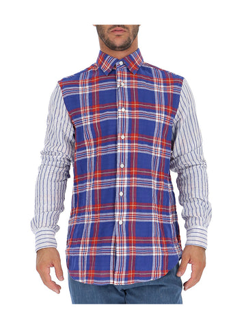 Loewe Contrast Checked Button Shirt