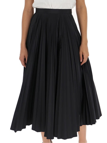 Maison Margiela High Waist Pleated Skirt