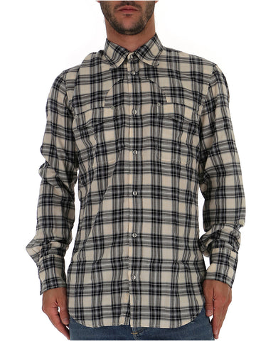 Maison Margiela Checked Button Shirt