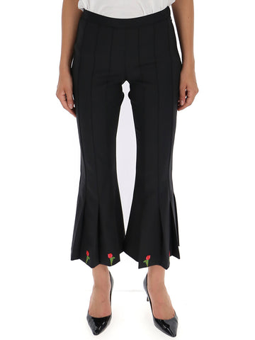 Marco De Vincenzo Embroidered Cropped Flare Pants