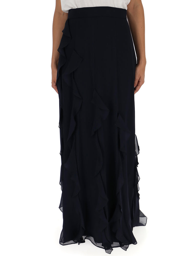 MAX MARA FRILLED MAXI SKIRT