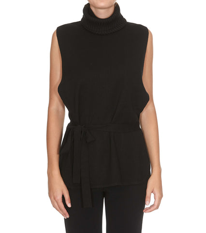 Max Mara Studio Sleeveless Turtleneck Sweater