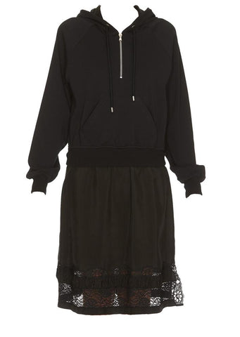 Moschino Hooded Long Sleeve Dress