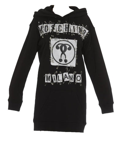 Moschino Safety Pin Hooded Dress