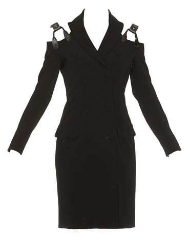 Moschino Cut-Out Shoulder Suit Dress