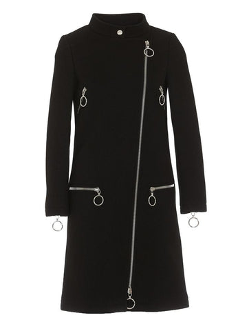Moschino Zip Detail Coat