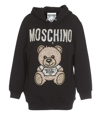 Moschino Rhinestone Embellished Teddy Sweater