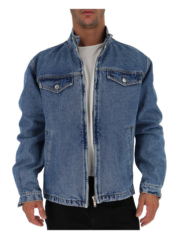 MSGM Relaxed Boxy Fit Denim Jacket