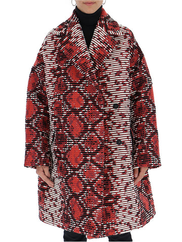 MSGM Abstract Print Coat