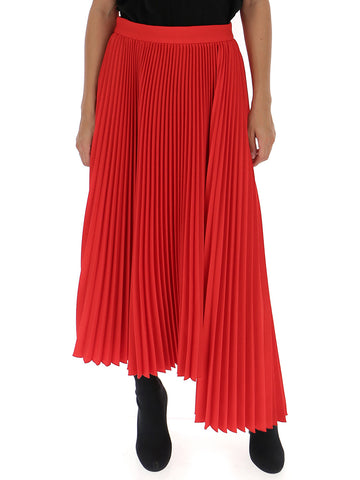 MSGM Asymmetric Pleated Skirt