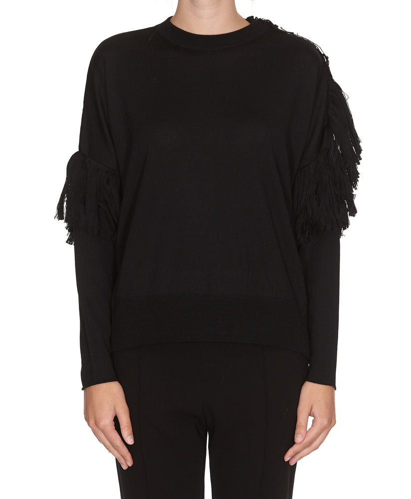 Nude NUDE ROUNDNECK FRINGED SWEATER