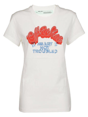 Off-White Heart Not Troubled T-Shirt