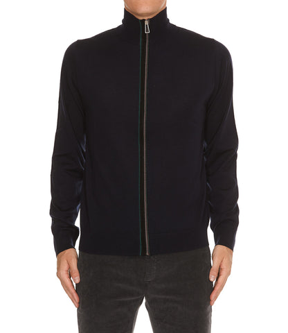 Paul Smith High-Neck Zipped Sweater