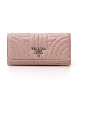 Prada Diagramme Quilted Wallet