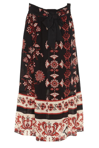 Red Valentino Printed Skirt