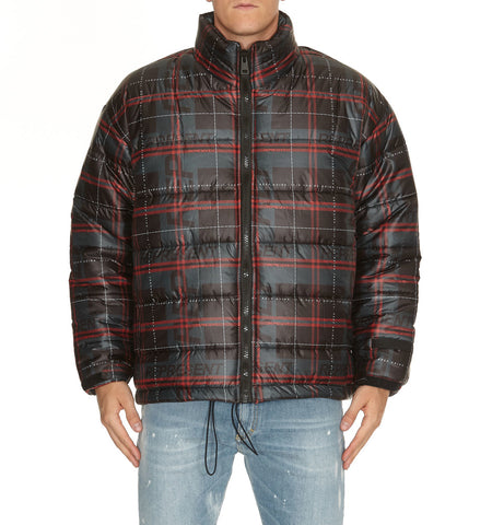 Represent Check Puffer Jacket